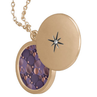 Random polka dots, fun, colourful, gold plated necklace