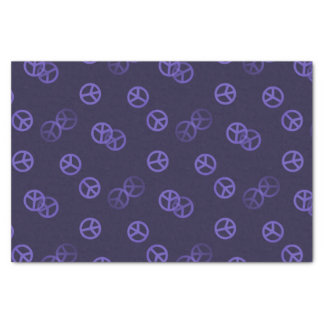 Random Purple Peace Sign Pattern Tissue Paper