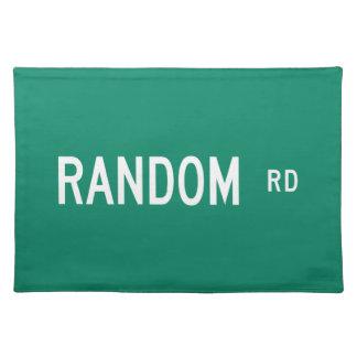 Random Road, Street Sign, New Jersey, US Place Mat