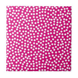 Random Scattered Whimsical Polka Dot Pattern Tile