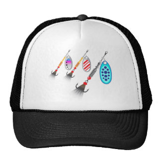 Random set of spinners different colors vector trucker hat