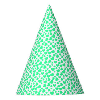 Random Sized and Colored Hearts Party Hat