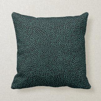 Random Spots - Moss Green on Black Throw Pillow