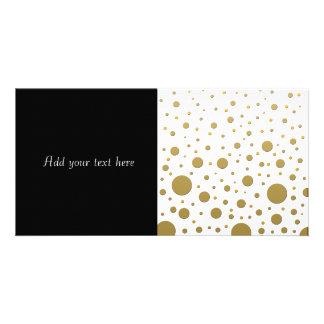 Random Stylish Gold Dots Photo Cards