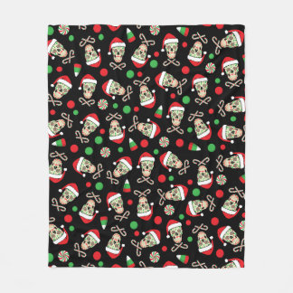 Random Sugar Skull Santa Fleece Blanket