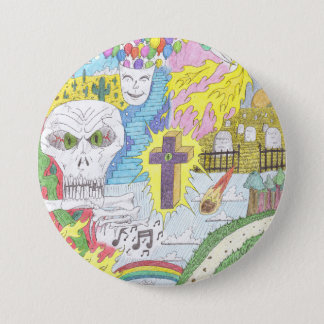 Random Thoughts Large Button/Pin 3 Inch Round Button