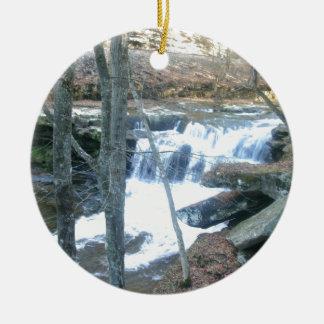 Random Waterfall Ceramic Ornament
