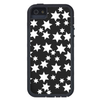 Random White Stars on Black Case For The iPhone 5