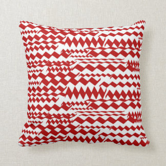 Random Zigzag Patterns Pillow