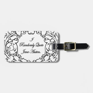Randomly Quote Jane Austen Luggage Tag