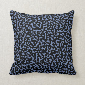 Randomness Blue and Black Throw Pillow