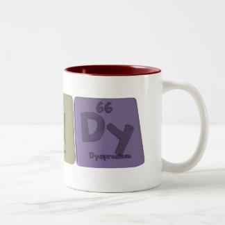 Randy as Radium Nitrogen Dysprosium Two-Tone Coffee Mug