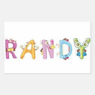 Randy Sticker