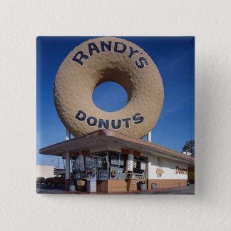 Randy's Doughnuts California Architecture 2 Inch Square Button