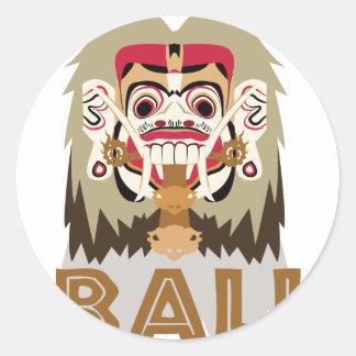 Rangda Bali Classic Round Sticker