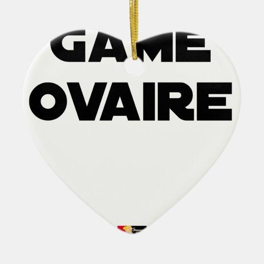 Range Ovary - Word games - François City Ceramic Ornament