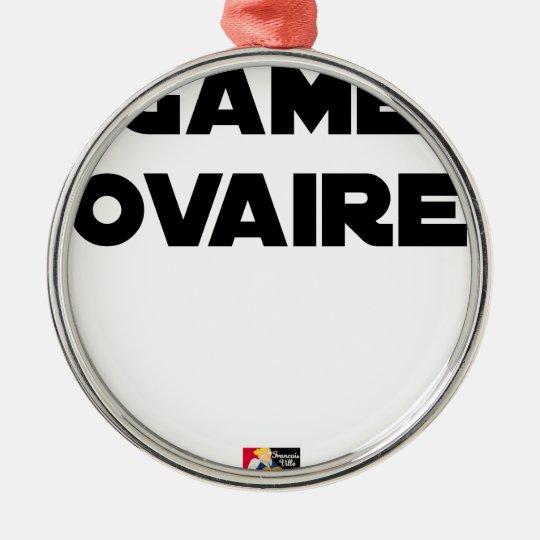 Range Ovary - Word games - François City Metal Ornament