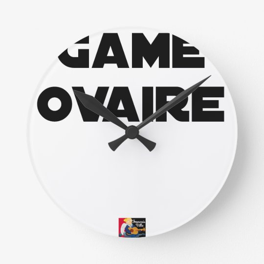 Range Ovary - Word games - François City Round Clock