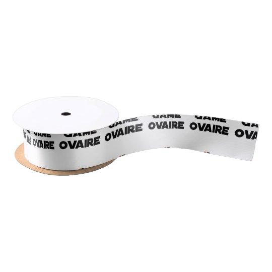 Range Ovary - Word games - François City Satin Ribbon