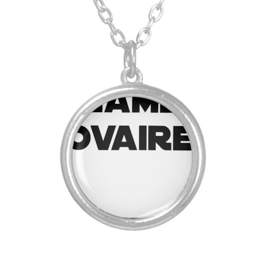 Range Ovary - Word games - François City Silver Plated Necklace