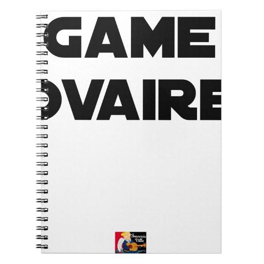 Range Ovary - Word games - François City Spiral Notebook