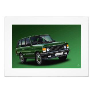 Range Rover Vogue Poster Illustration Photo Art