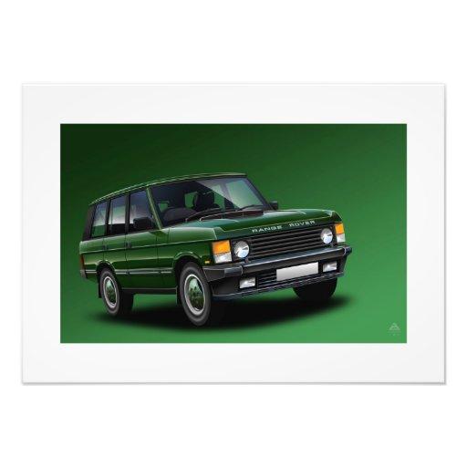 Range Rover Vogue Poster Illustration Photographic Print