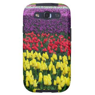Rangées colorées des tulipes de ressort étui galaxy SIII