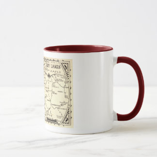 Rangeley Lakes Map, Maine Vintage Mug