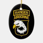 Ranger Airborne Eagle Patch Ceramic Ornament