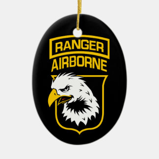 Ranger Airborne Eagle Patch Ceramic Ornament