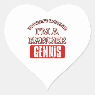 Ranger genius heart stickers
