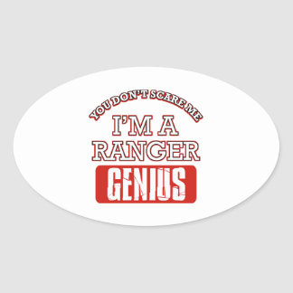 Ranger genius oval stickers