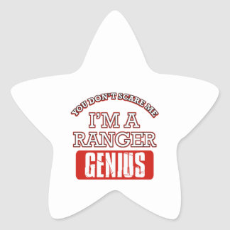 Ranger genius star sticker