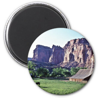 Ranger Horse Corral - Capitol Reef National Park 2 Inch Round Magnet