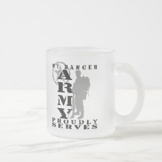 Ranger Proudly Serves - ARMY Frosted Glass Mug