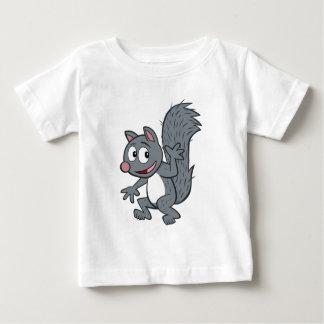 Ranger Rick   Gray Squirrel Waving Baby T-Shirt