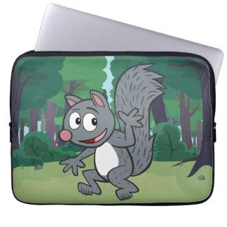 Ranger Rick | Gray Squirrel Waving Laptop Sleeve