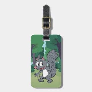Ranger Rick   Gray Squirrel Waving Luggage Tag