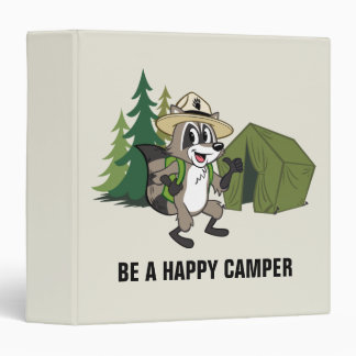 Ranger Rick | Great American Campout -Tent 3 Ring Binder