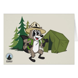 Ranger Rick | Great American Campout -Tent Card