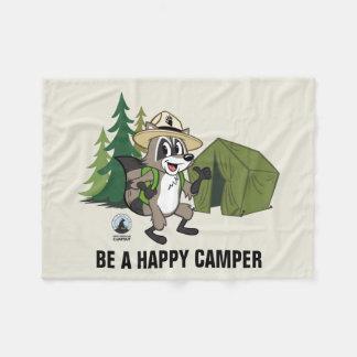 Ranger Rick   Great American Campout -Tent Fleece Blanket