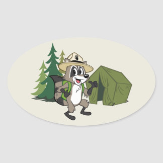 Ranger Rick | Great American Campout -Tent Oval Sticker