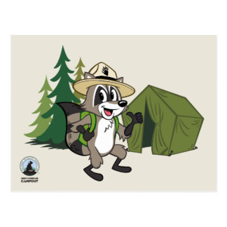 Ranger Rick   Great American Campout -Tent Postcard