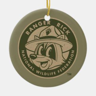 Ranger Rick | Ranger Rick Khaki Logo Ceramic Ornament