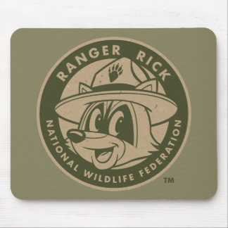 Ranger Rick   Ranger Rick Khaki Logo Mouse Pad