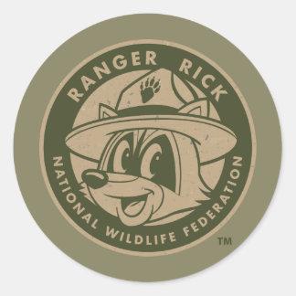 Ranger Rick | Ranger Rick Khaki Logo Round Sticker