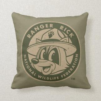 Ranger Rick | Ranger Rick Khaki Logo Throw Pillow