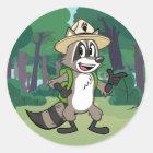 Ranger Rick | Ranger Rick Pointing Classic Round Sticker
