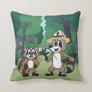Ranger Rick   Ranger Rick & Ricky Throw Pillow